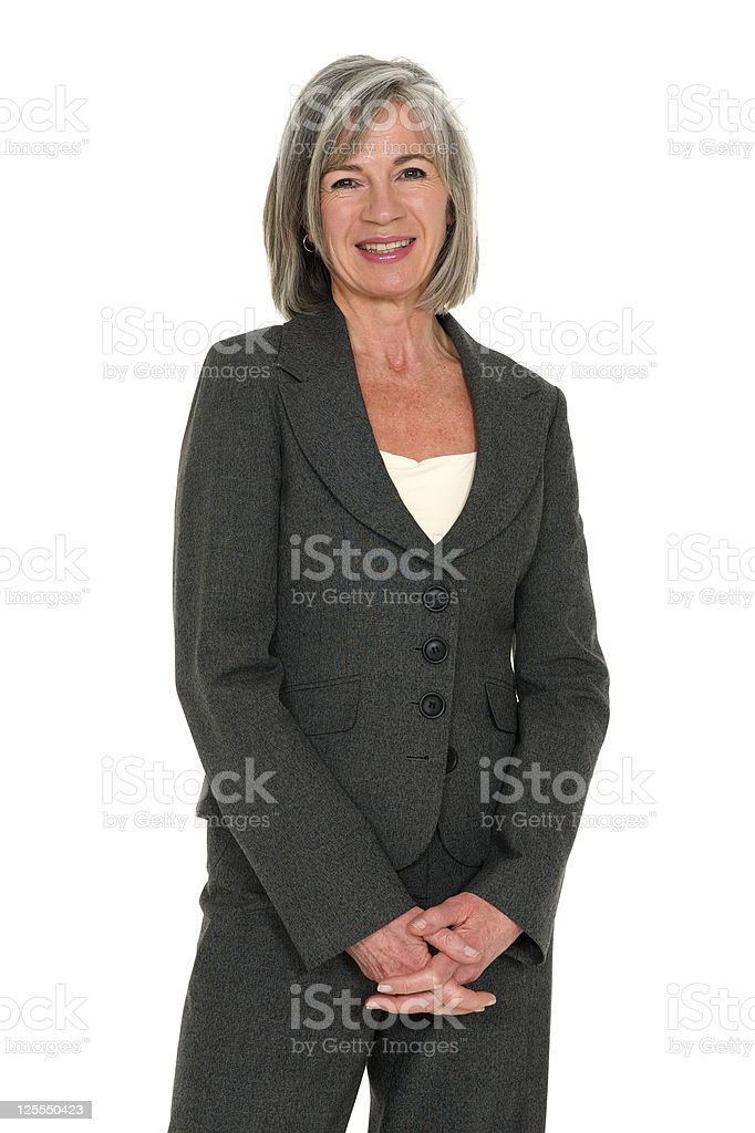 Smartly Dressed Mature Businesswoman royalty-free stock photo