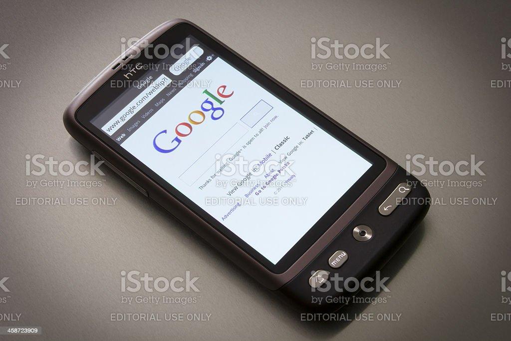 Smartphone HTC Desire stock photo