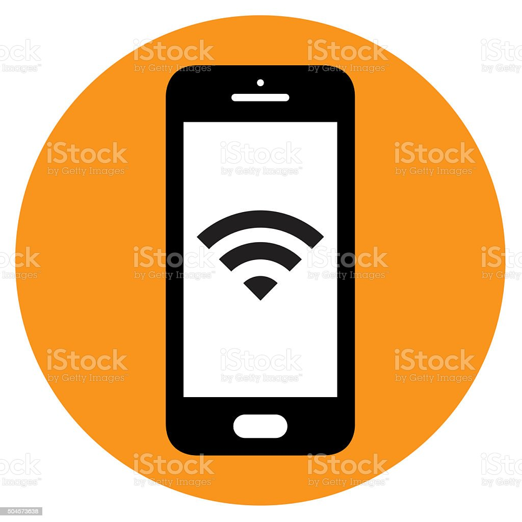 Smartphone icon. Vector stock photo