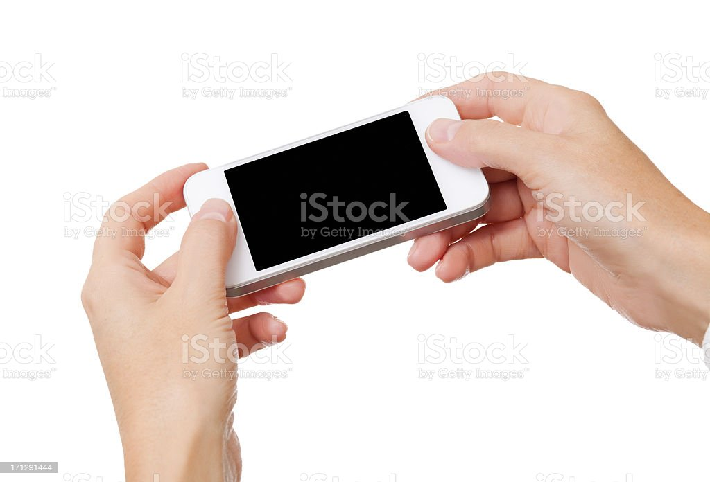 Smartphone in Hands royalty-free stock photo
