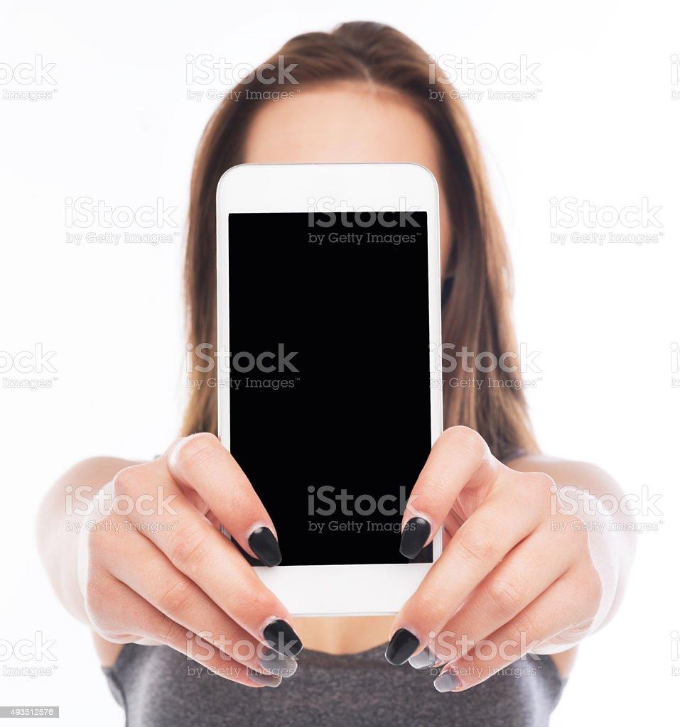Smartphone in Hands stock photo