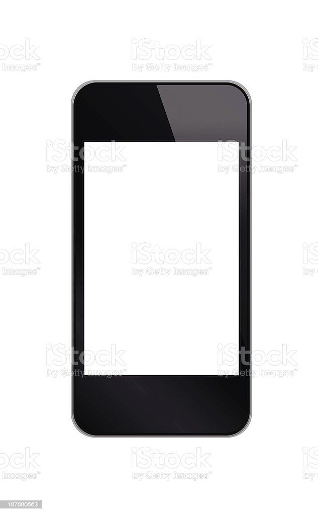 Smartphone isolated on white background royalty-free stock photo