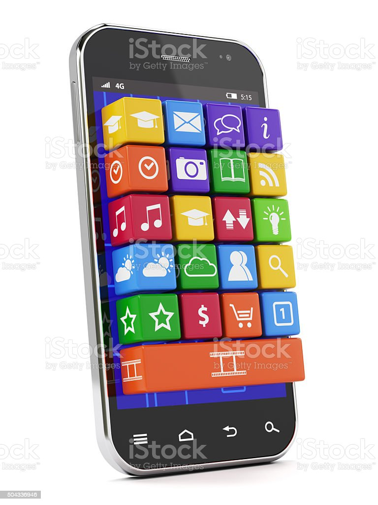 Smartphone media concept stock photo
