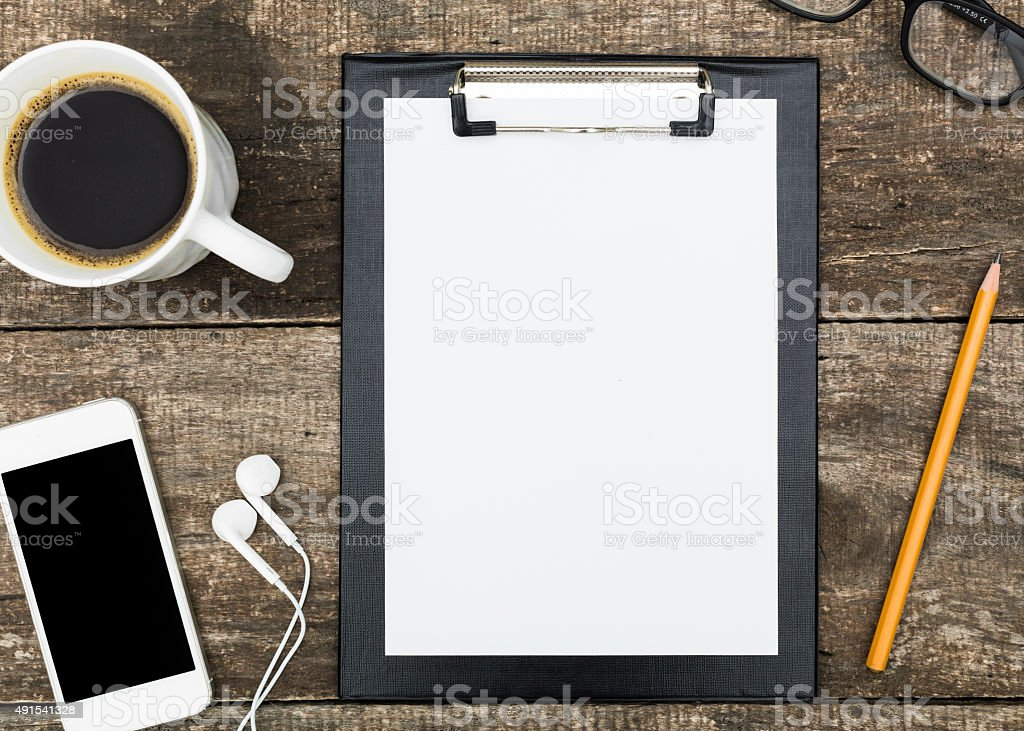 Smartphone mock up template for business stock photo