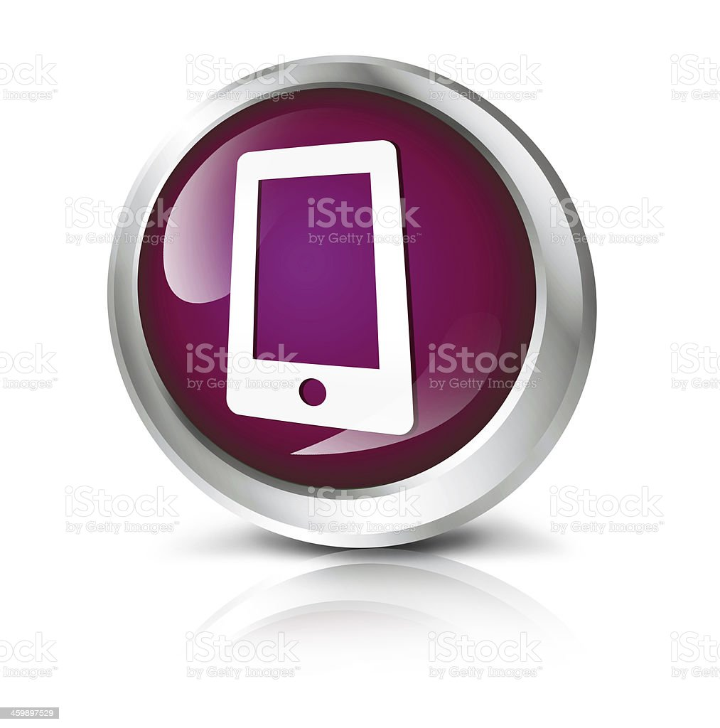 Smartphone or tablet icons stock photo