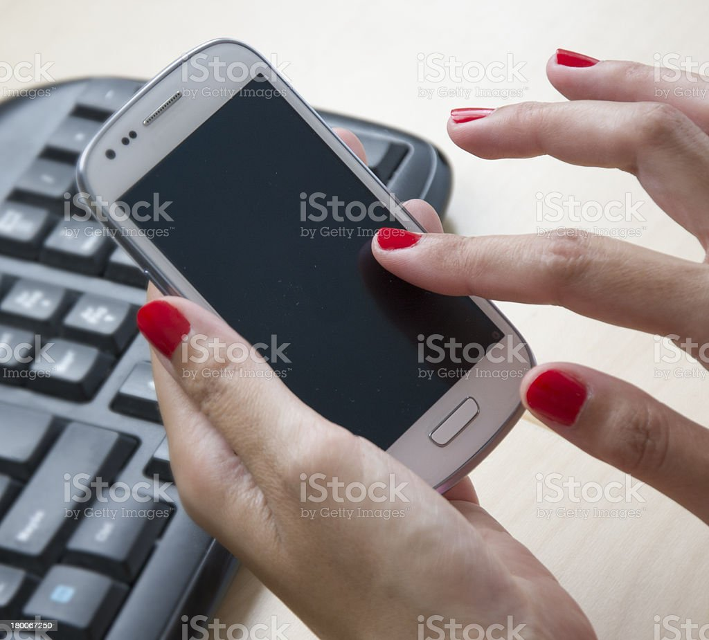 Smart-phone royalty-free stock photo