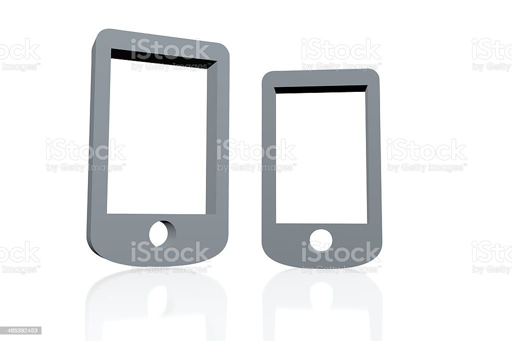 3D smartphone royalty-free stock photo