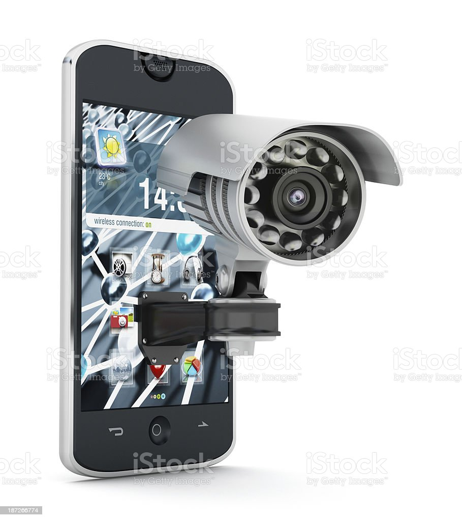 Smartphone security royalty-free stock photo