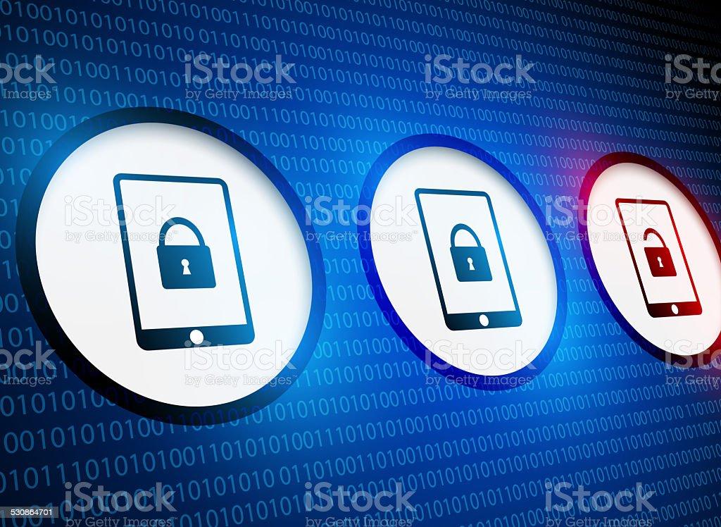 Smartphone security stock photo