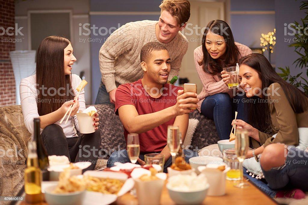 smartphone sharing stock photo