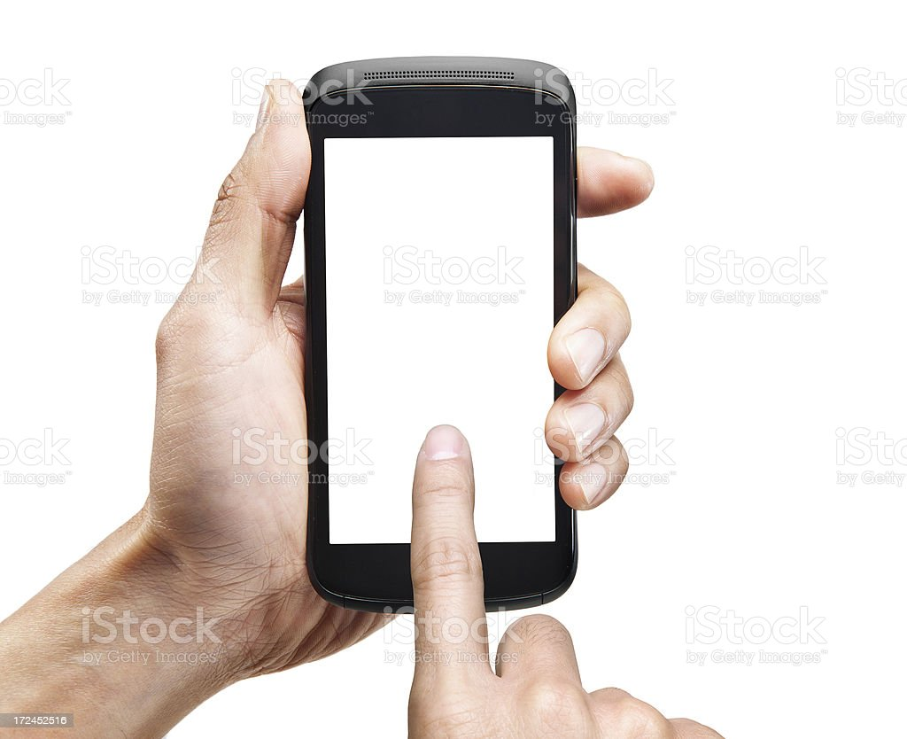 Smartphone touch screen stock photo