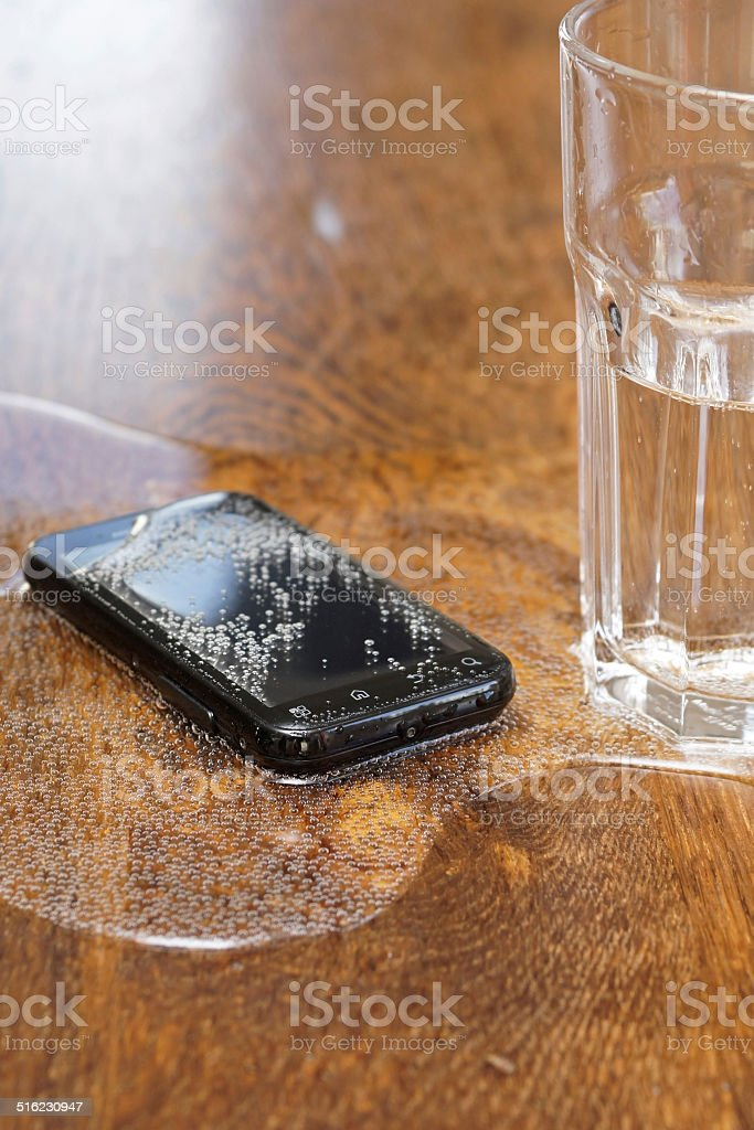 Smartphone Water Fail stock photo