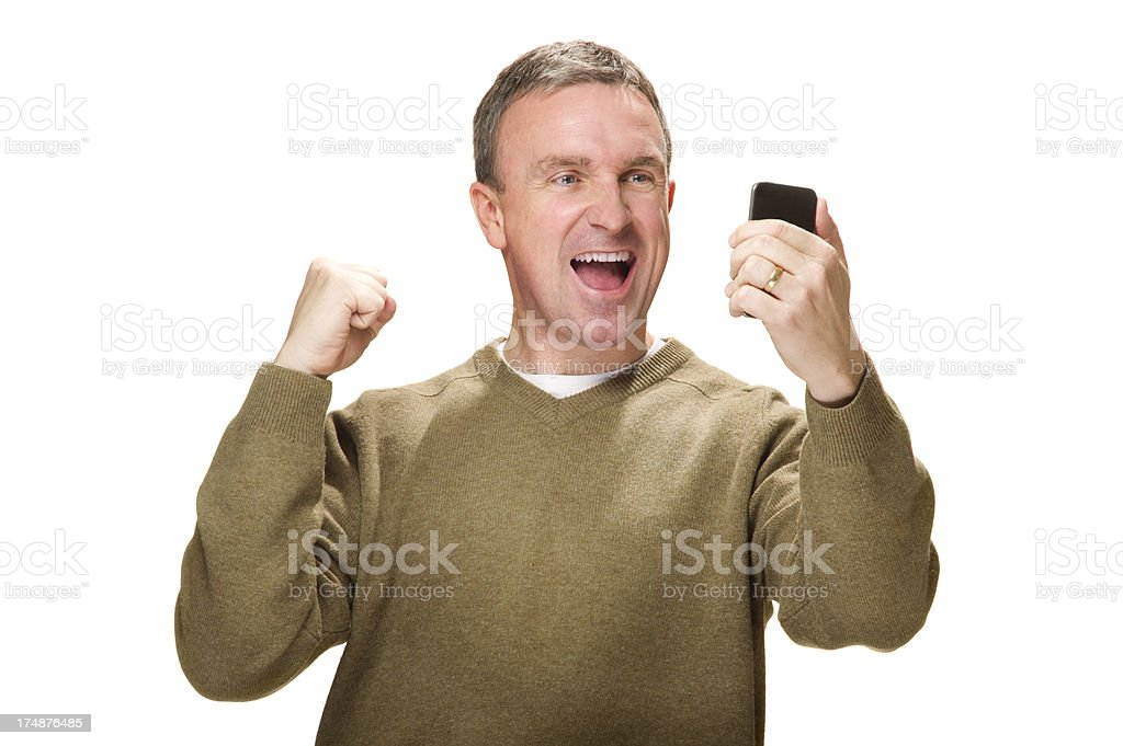 smartphone winner royalty-free stock photo