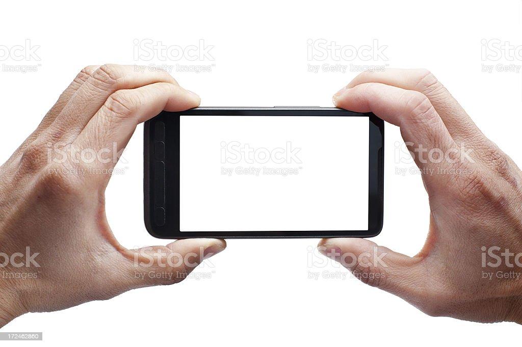 Smartphone wit blank screen stock photo