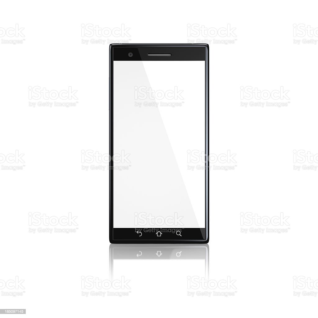 Smartphone with blank screen - front royalty-free stock photo