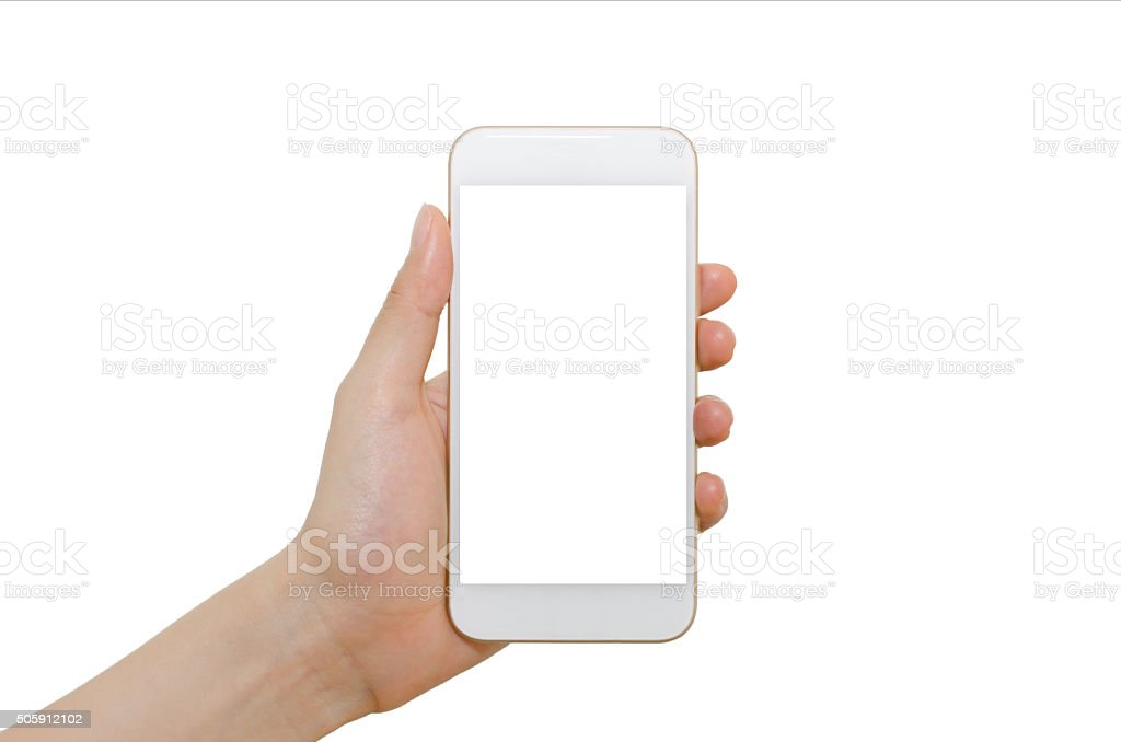 Smartphone with blank screen stock photo