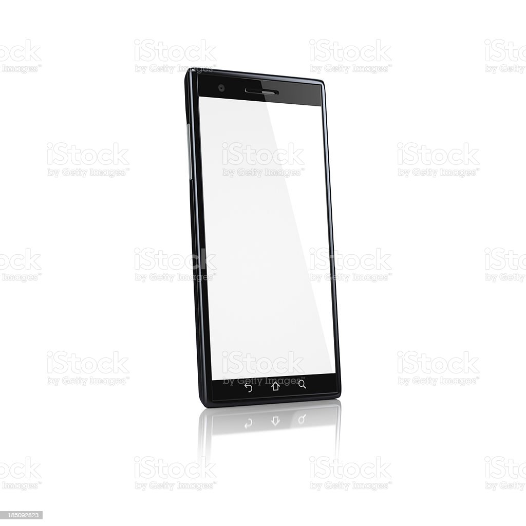 Smartphone with blank screen - side royalty-free stock photo