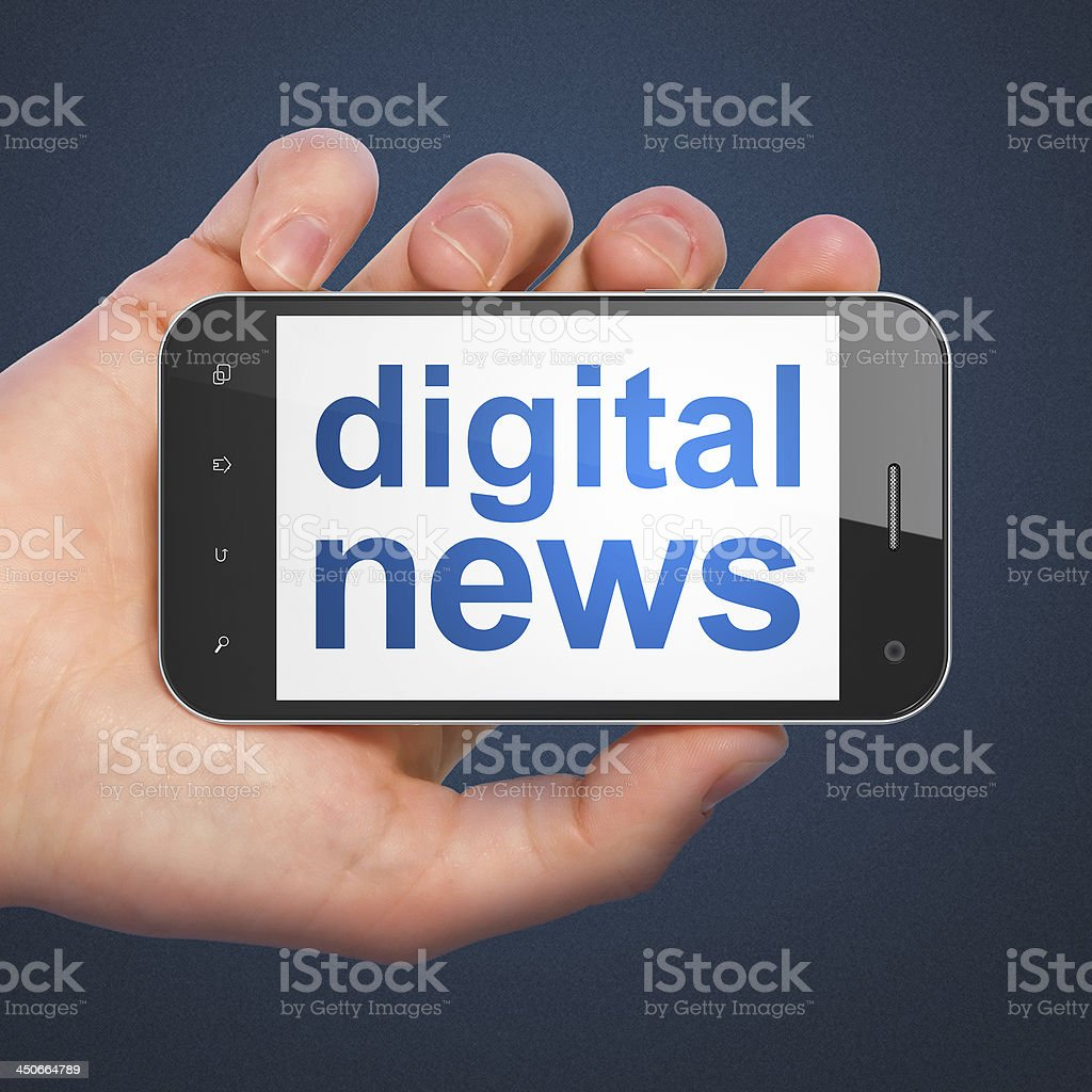 smartphone with Digital News royalty-free stock photo