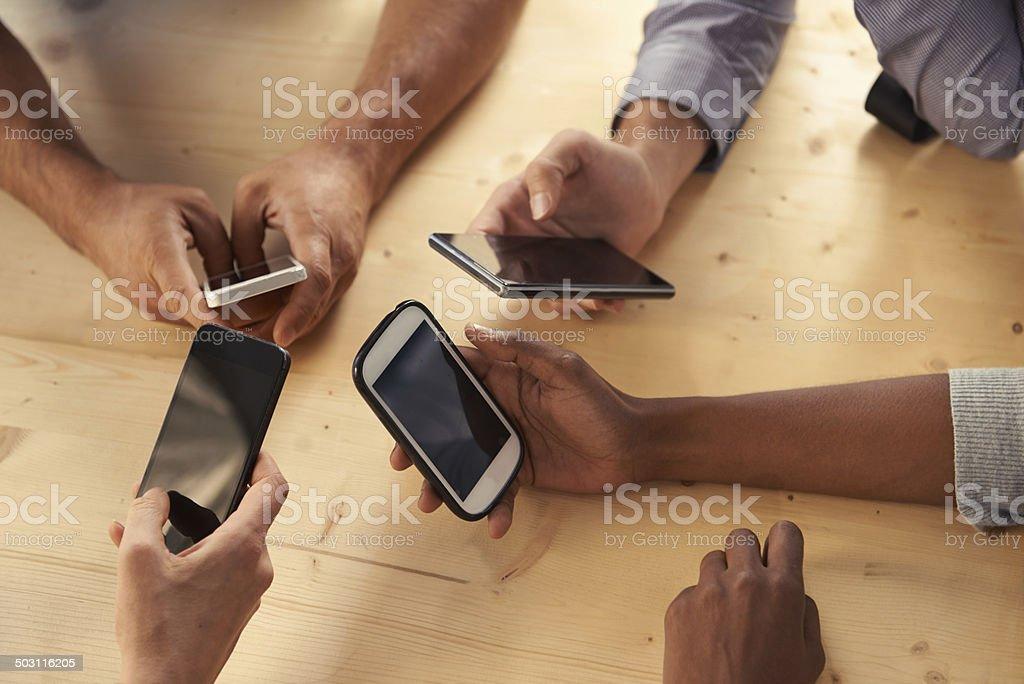 Smartphones for smart people stock photo