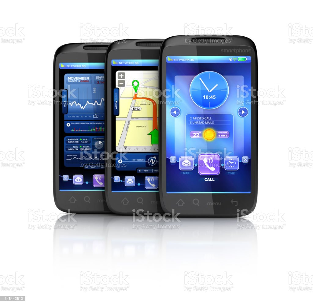 Smartphones interface royalty-free stock photo