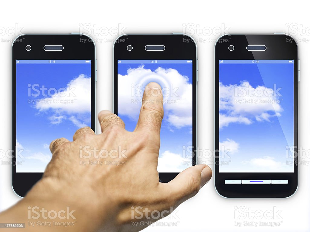 smartphones royalty-free stock photo