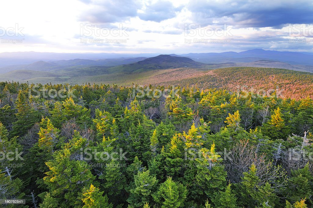 Smarts Mountain, View North royalty-free stock photo