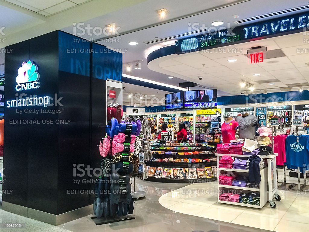 CNBC smartshop at Atlanta Airport, USA stock photo