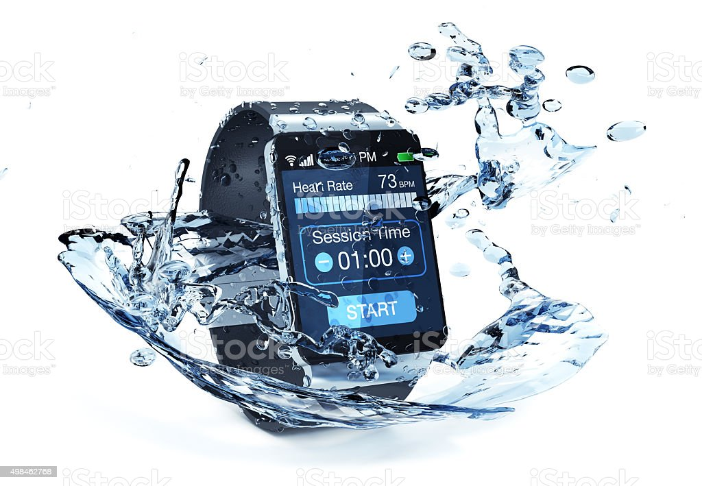 smartwatch and fitness stock photo