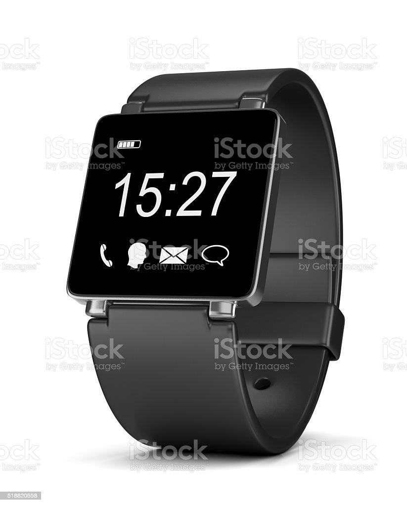 Smartwatch Digital Clock on White stock photo