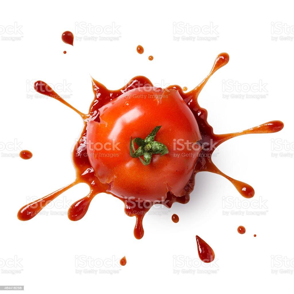 smash tomato stock photo
