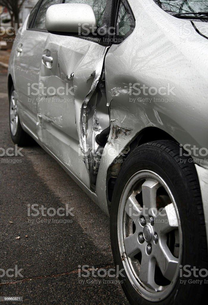 Smashed Car royalty-free stock photo
