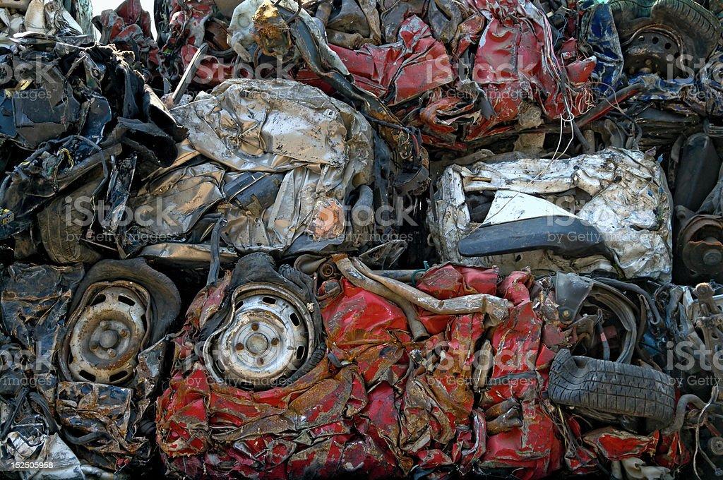 Smashed cars stock photo