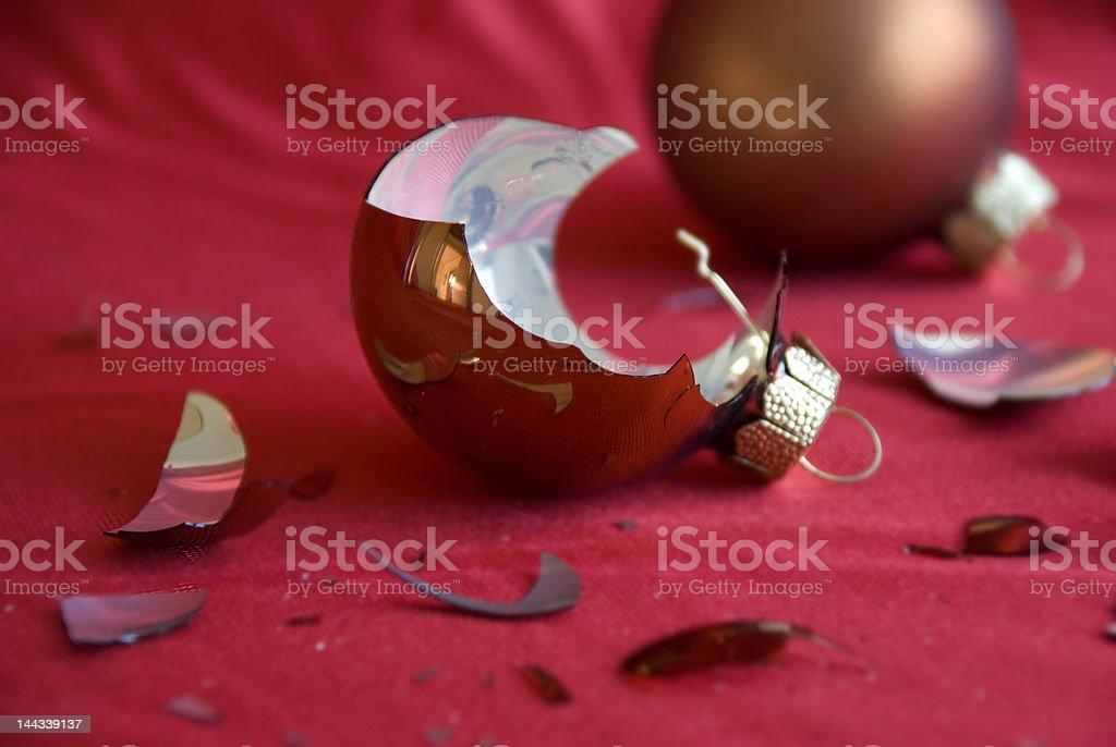 Smashed christmas bauble royalty-free stock photo