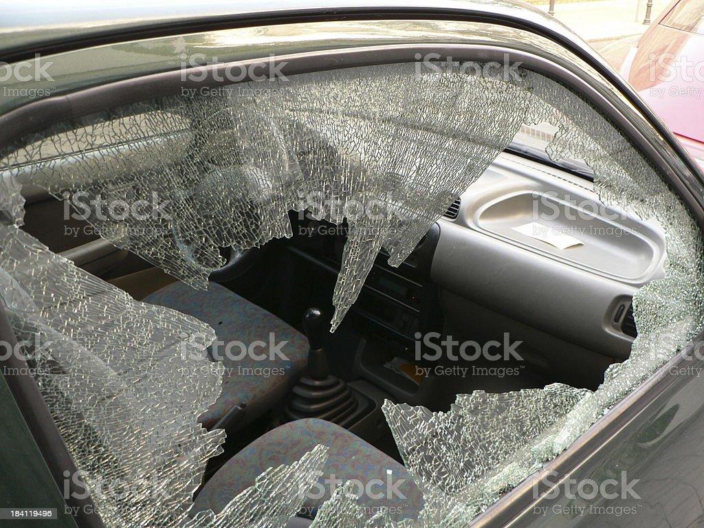 smashed glass royalty-free stock photo