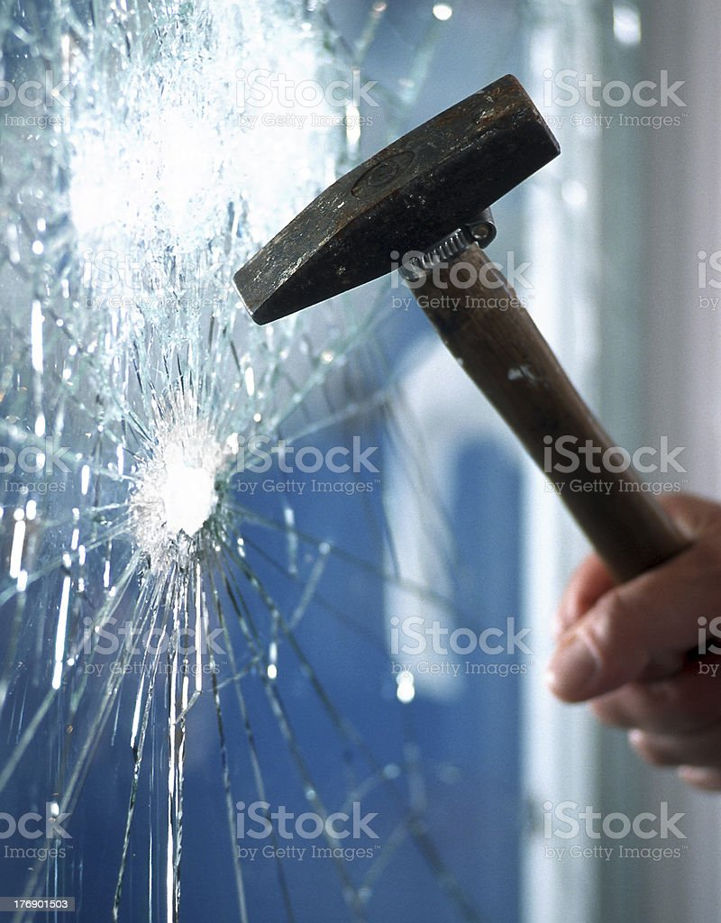Smashed royalty-free stock photo