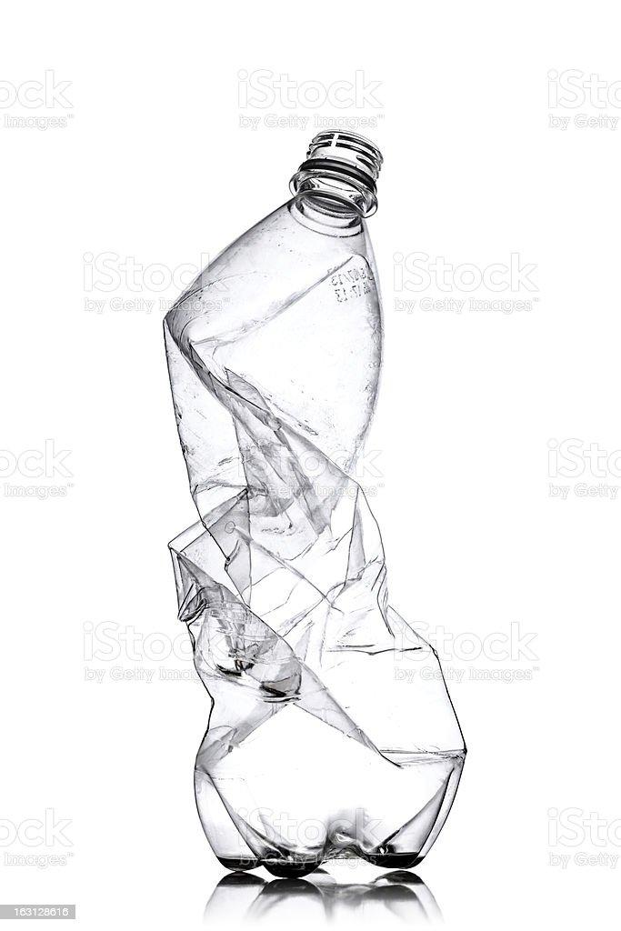 smashed plastic bottle royalty-free stock photo