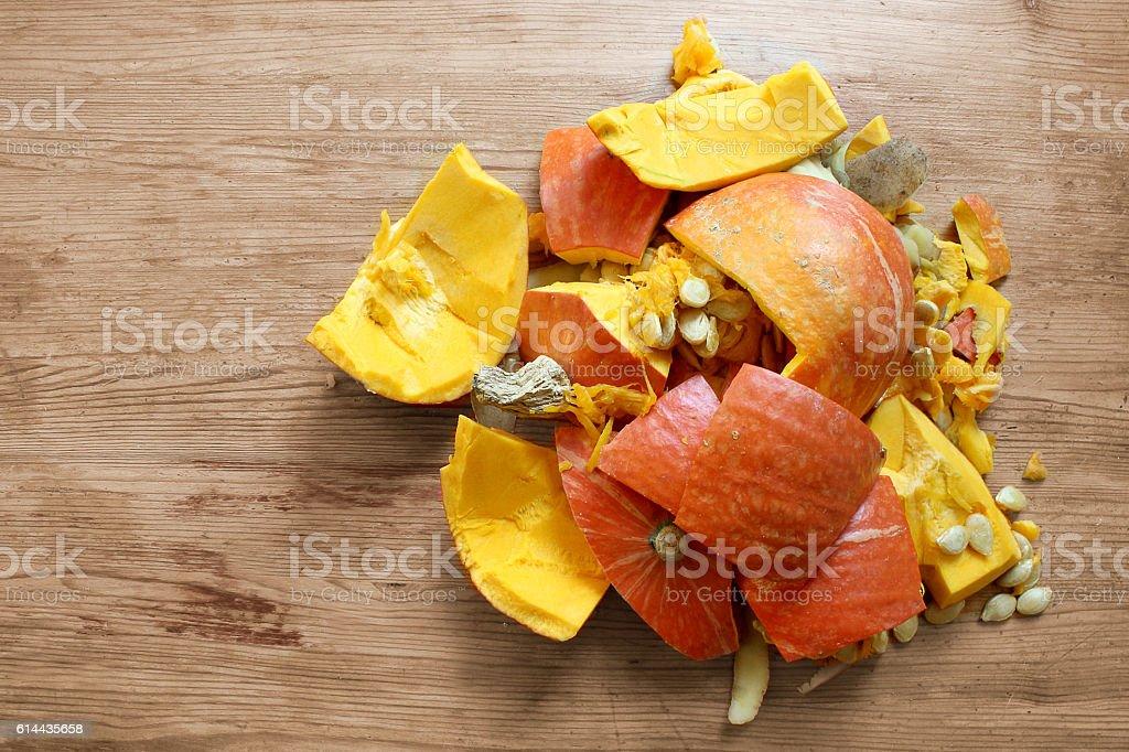Smashed Pumpkin Thanksgiving stock photo