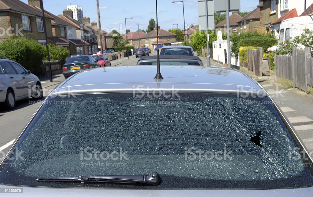 Smashed rear screen royalty-free stock photo
