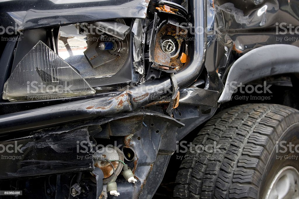 Smashed up SUV - Horizontal royalty-free stock photo