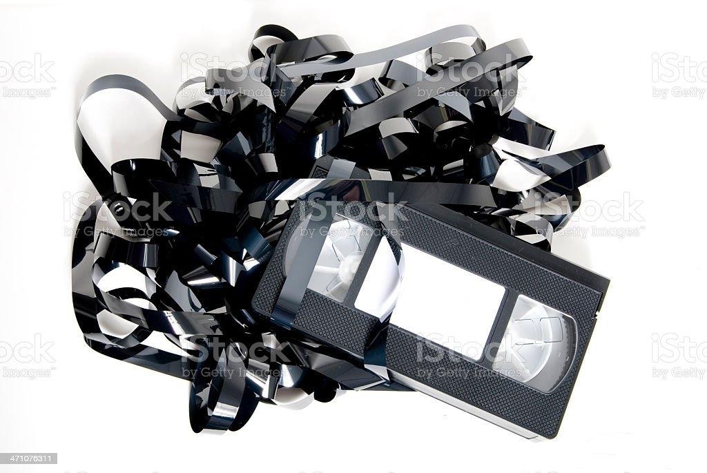 Smashed VHS Tape royalty-free stock photo