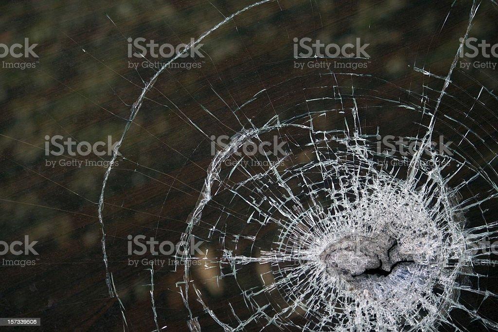 Smashed window royalty-free stock photo