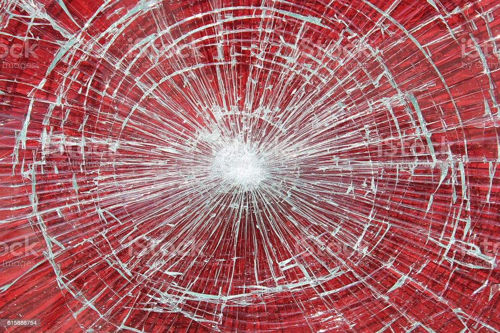 Smashed Window stock photo