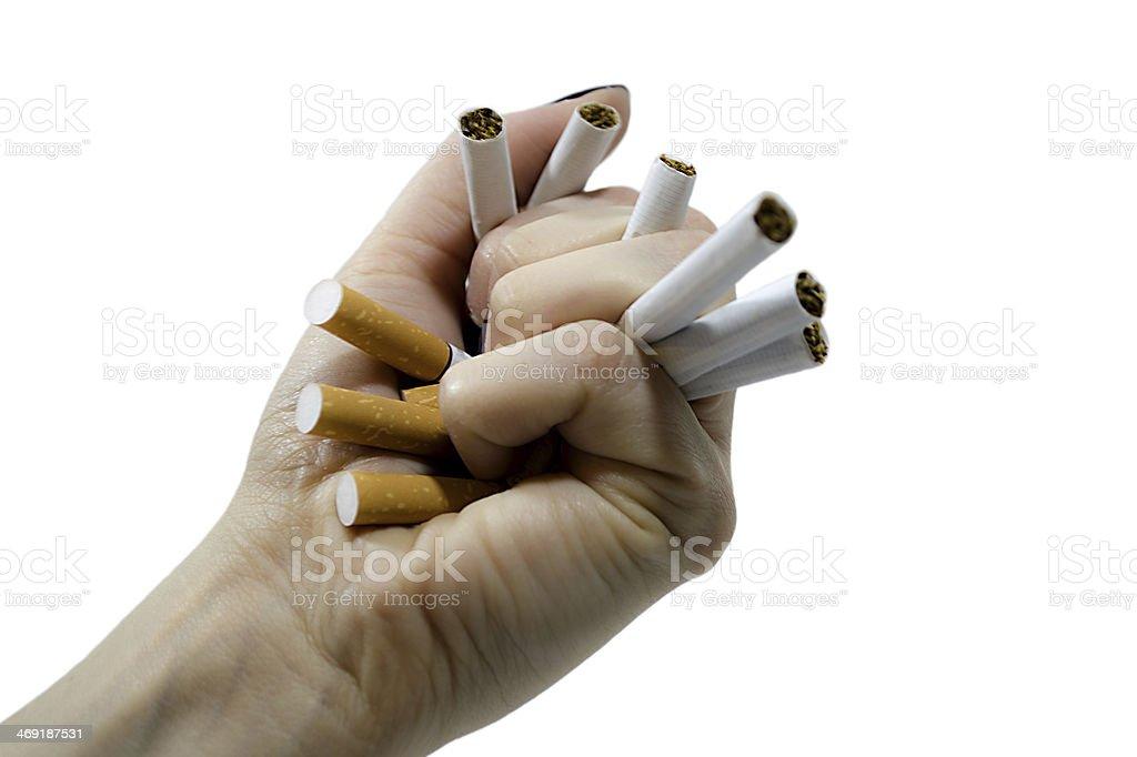 Smashing cigarettes royalty-free stock photo
