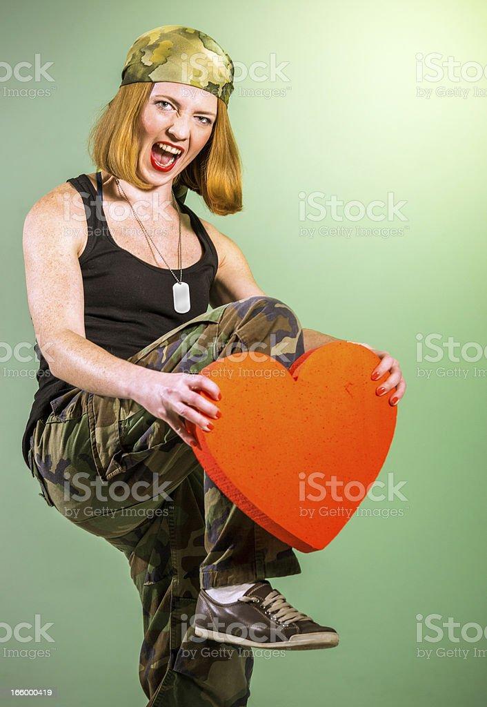 Smashing heart royalty-free stock photo