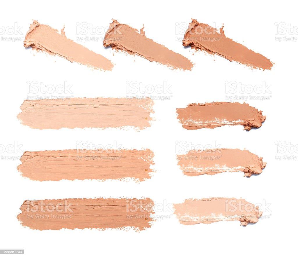 smear makeup tone stock photo