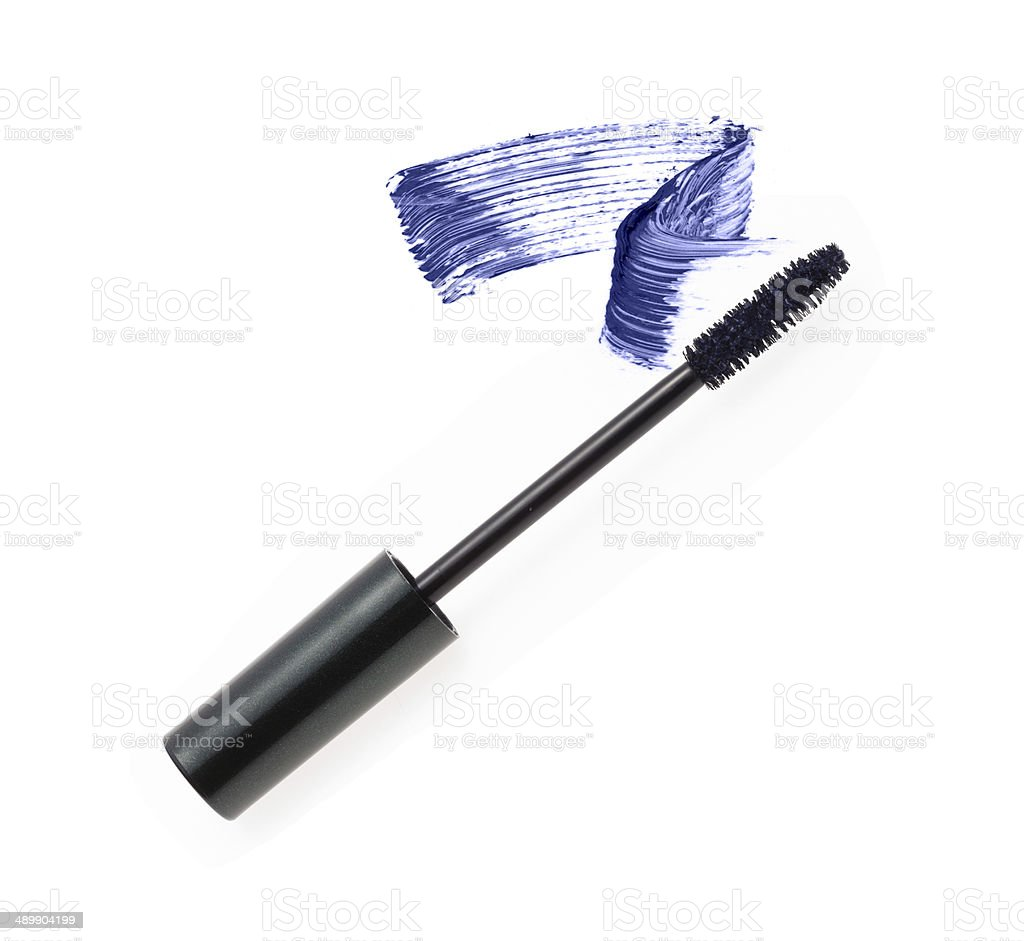 Smear of make-up (mascara) stock photo