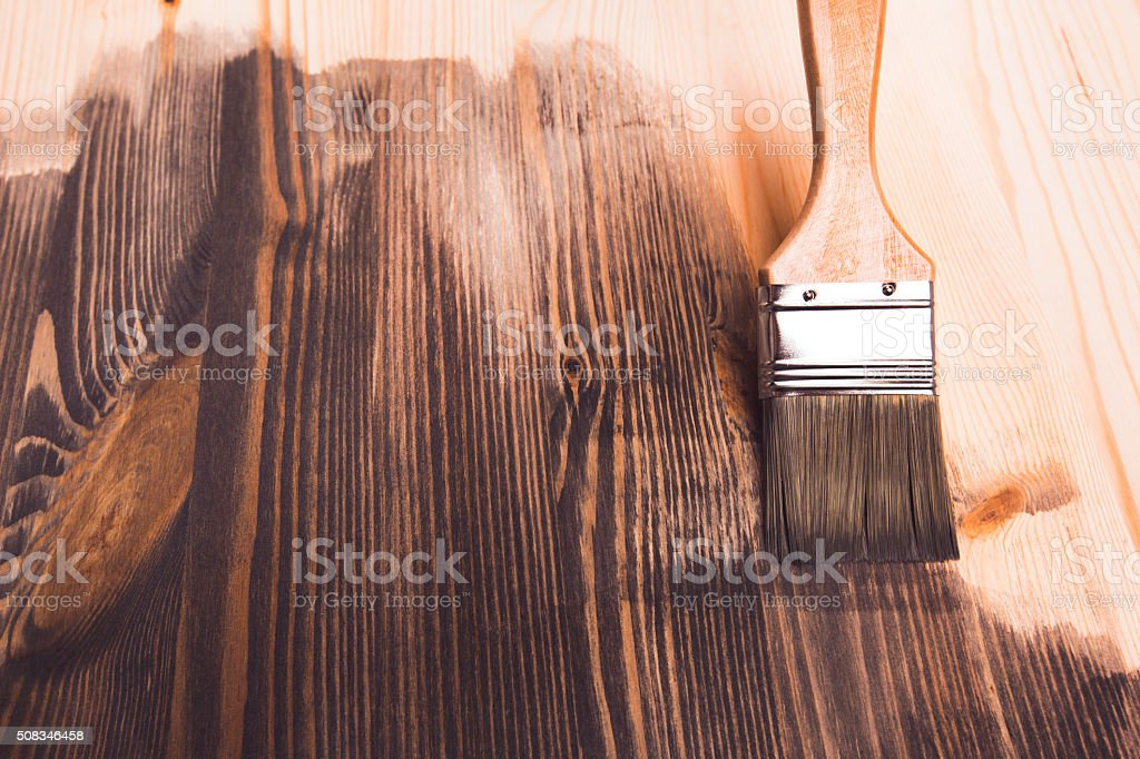 Smear of paint brush stock photo