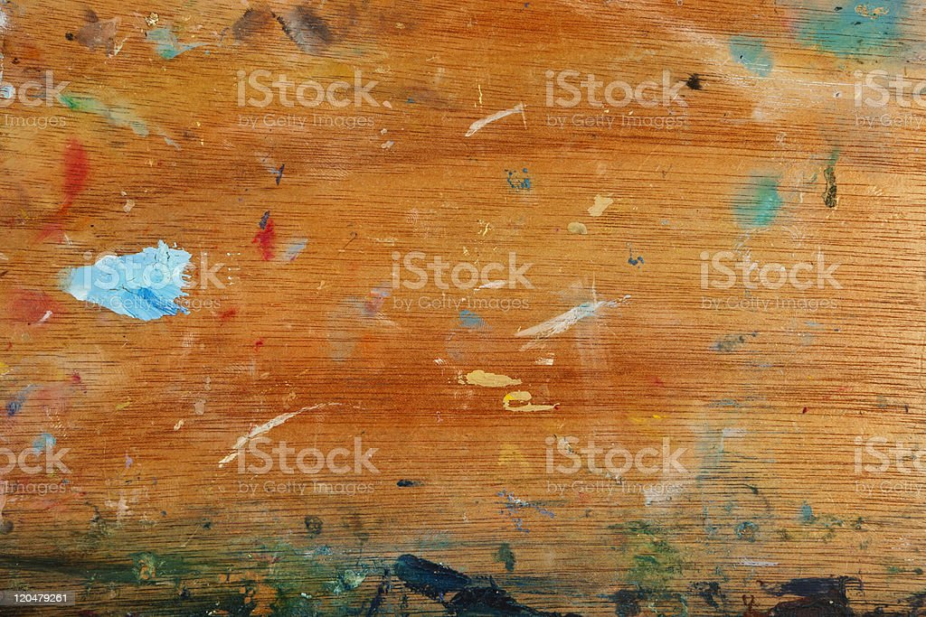 Smears and spots of paint stock photo