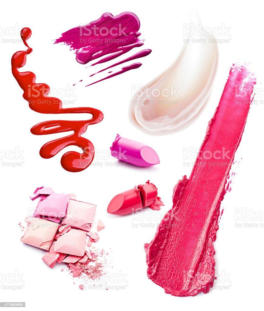 Smears of cosmetics stock photo
