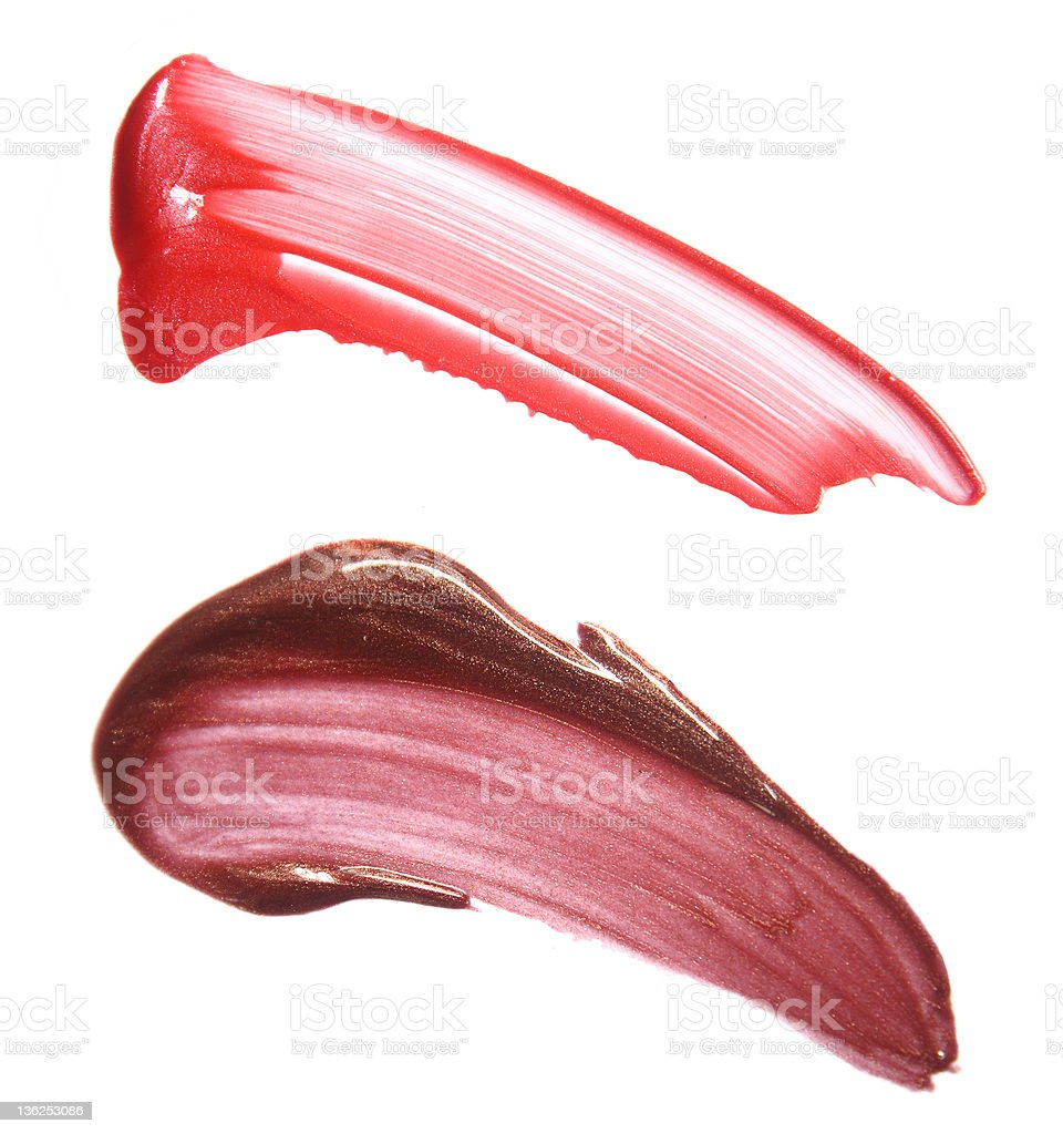 Smears of lipgloss royalty-free stock photo